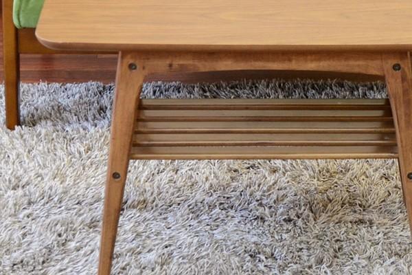 トムテコーヒーテーブル棚付き