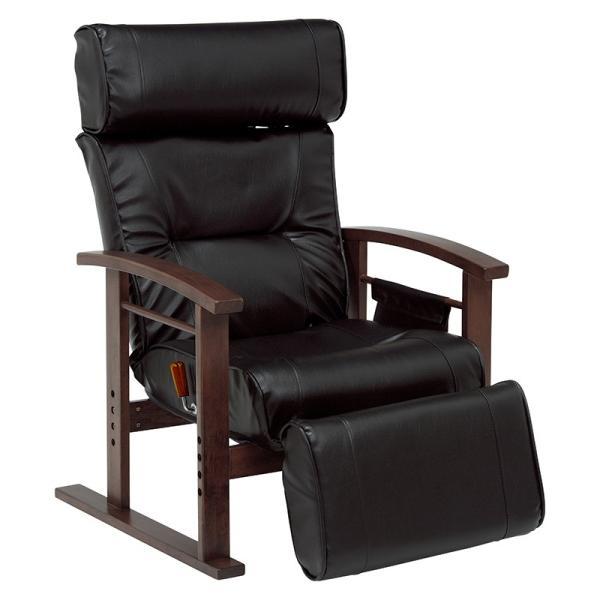 リクライニングチェア パーソナルチェア ハイバック 高座椅子 フットレスト レザー お洒落 オットマン付き 座椅子 椅子 ソファ シニア 父の日 敬老の日|at-emoor|17
