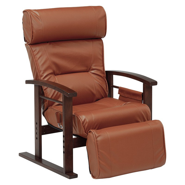 リクライニングチェア パーソナルチェア ハイバック 高座椅子 フットレスト レザー お洒落 オットマン付き 座椅子 椅子 ソファ シニア 父の日 敬老の日|at-emoor|16