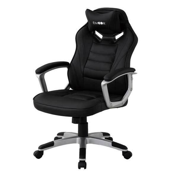 ゲーミングチェア オフィスチェア リクライニング チェア 椅子 PCチェア 昇降 在宅 勉強用 学習用 テレワーク クッション付 送料無料 エムール|at-emoor|20