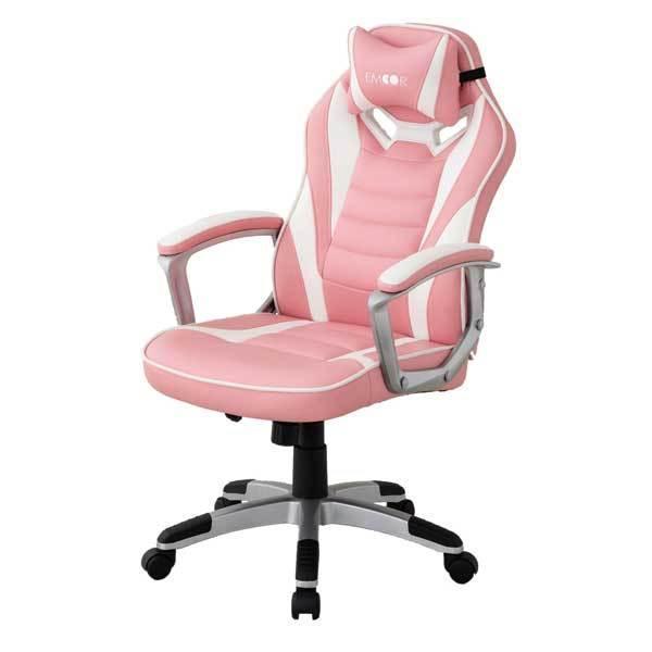 ゲーミングチェア オフィスチェア リクライニング チェア 椅子 PCチェア 昇降 在宅 勉強用 学習用 テレワーク クッション付 送料無料 エムール|at-emoor|22