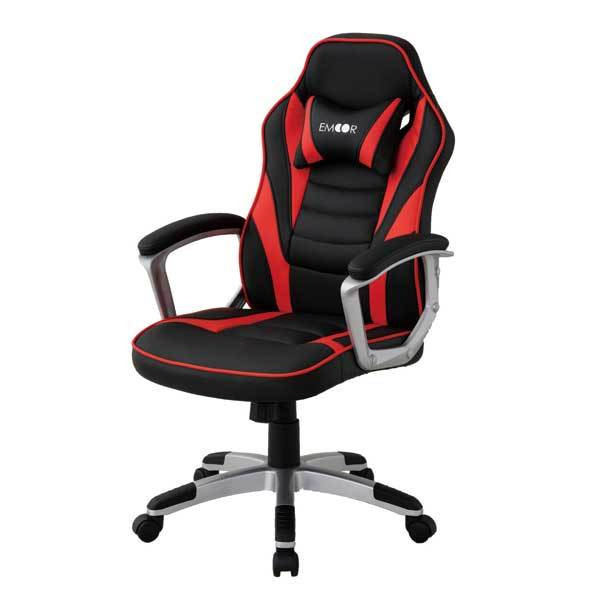 ゲーミングチェア オフィスチェア リクライニング チェア 椅子 PCチェア 昇降 在宅 勉強用 学習用 テレワーク クッション付 送料無料 エムール|at-emoor|19