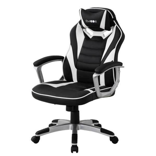 ゲーミングチェア オフィスチェア リクライニング チェア 椅子 PCチェア 昇降 在宅 勉強用 学習用 テレワーク クッション付 送料無料 エムール|at-emoor|21