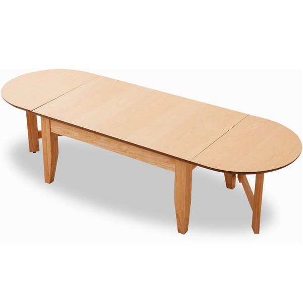 ローテーブル 長方形 天板拡張 ウォルカ 木製 天然木 突き板 アッシュ ウォルナット 折りたたみ コーヒーテーブル センターテーブル 楕円 送料無料 エムール|at-emoor|12