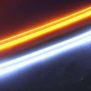 シーケンシャル ウィンカー 流れる 2色点灯 60cm LED テープライト シリコンチューブライト 高品質 防水 2本セット 全2色 デイライト アイライン カスタムパーツ at-parts7117 10