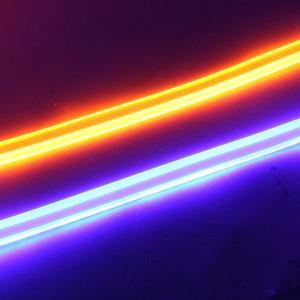 シーケンシャル ウィンカー 流れる 2色点灯 60cm LED テープライト シリコンチューブライト 高品質 防水 2本セット 全2色 デイライト アイライン カスタムパーツ at-parts7117 11