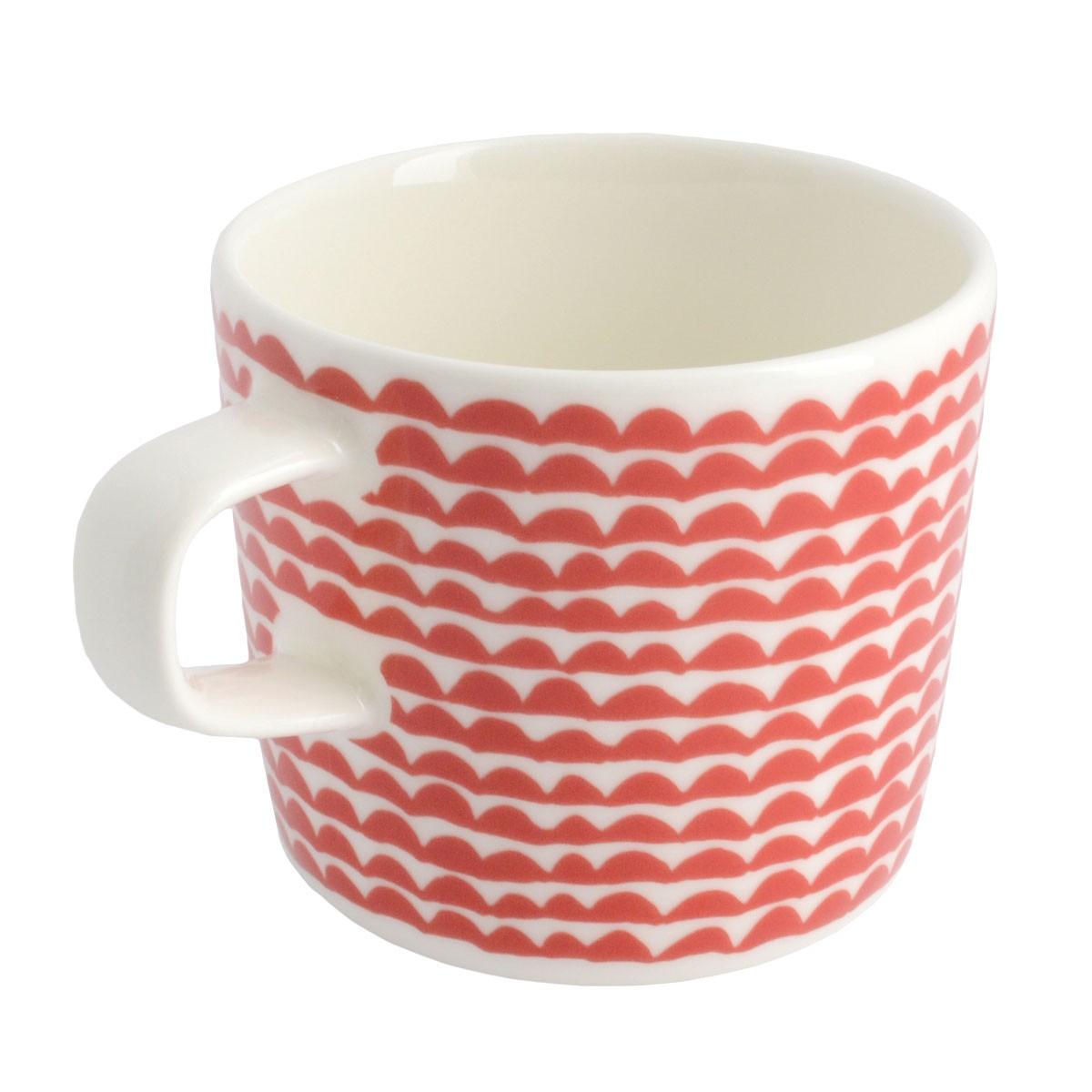 マリメッコ marimekko 067493 130 white/red PAPAJO GLOGG CUP 200ml グロッギカップ コーヒーカップ