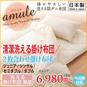 日本製・清潔洗える掛け布団ジュニア!ダクロン(R)ウォッシャブル掛け布団・ジュニア