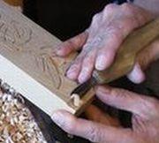 浮き彫り表札制作の様子4