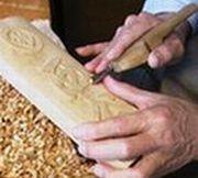 浮き彫り表札制作の様子7