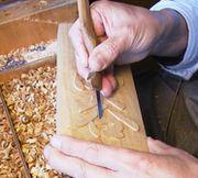 浮き彫り表札制作の様子8
