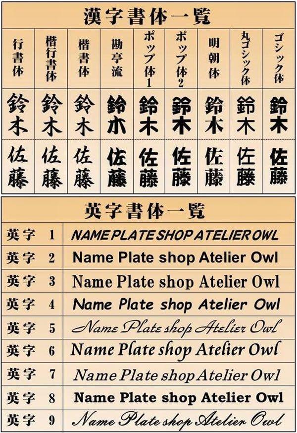 漢字書体一覧