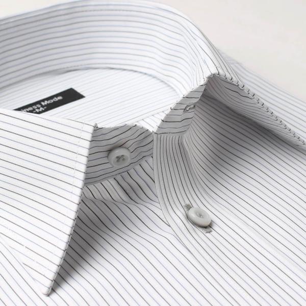 ワイシャツ 長袖 メンズ Yシャツ ノーアイロン ビジネス シャツ ボタンダウン レギュラー  at-ml-sre-1516 宅配便のみ クールビズ clz|atelier365|28