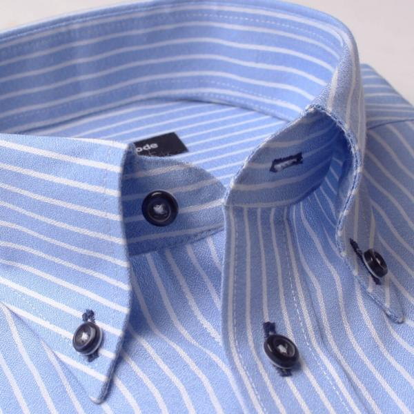 ワイシャツ 長袖 メンズ Yシャツ ノーアイロン ビジネス シャツ ボタンダウン レギュラー  at-ml-sre-1516 宅配便のみ クールビズ clz|atelier365|32