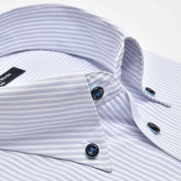 ワイシャツ 長袖 メンズ Yシャツ ノーアイロン ビジネス シャツ ボタンダウン レギュラー  at-ml-sre-1516 宅配便のみ クールビズ clz|atelier365|24