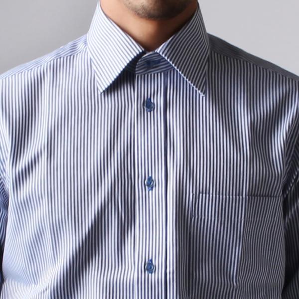 ワイシャツ メンズ 長袖 Yシャツ ボタンダウン ビジネス シャツ おしゃれ ホリゾンタル クレリック セミワイド  クールビズ ybd 宅配便のみ|atelier365|30