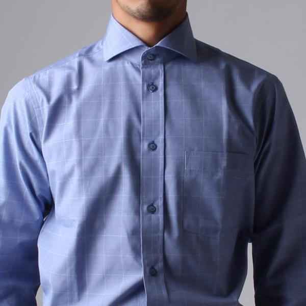 ワイシャツ メンズ 長袖 Yシャツ ボタンダウン ビジネス シャツ おしゃれ ホリゾンタル クレリック セミワイド  クールビズ ybd 宅配便のみ|atelier365|33