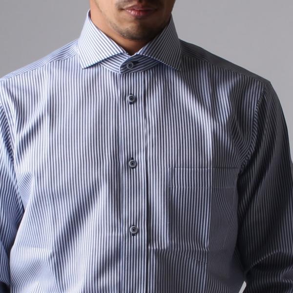 ワイシャツ メンズ 長袖 Yシャツ ボタンダウン ビジネス シャツ おしゃれ ホリゾンタル クレリック セミワイド  クールビズ ybd 宅配便のみ|atelier365|35