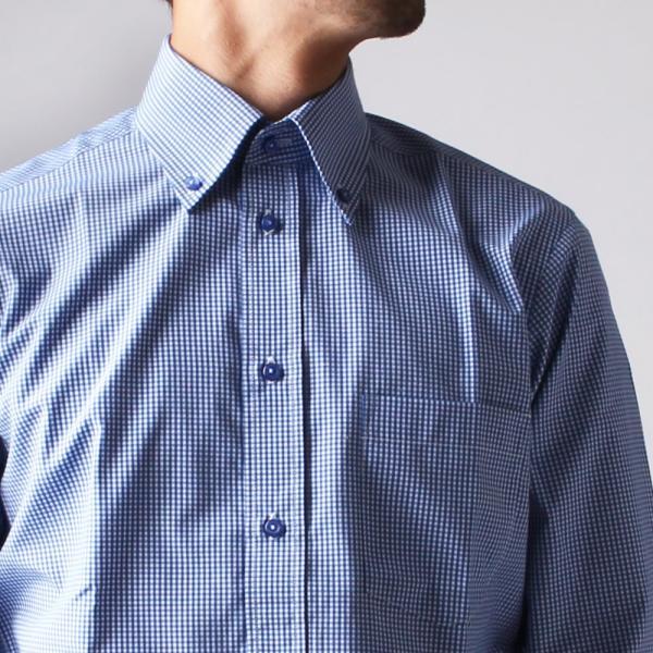 ワイシャツ メンズ 長袖 Yシャツ ボタンダウン ビジネス シャツ おしゃれ ホリゾンタル クレリック セミワイド  クールビズ ybd 宅配便のみ|atelier365|23