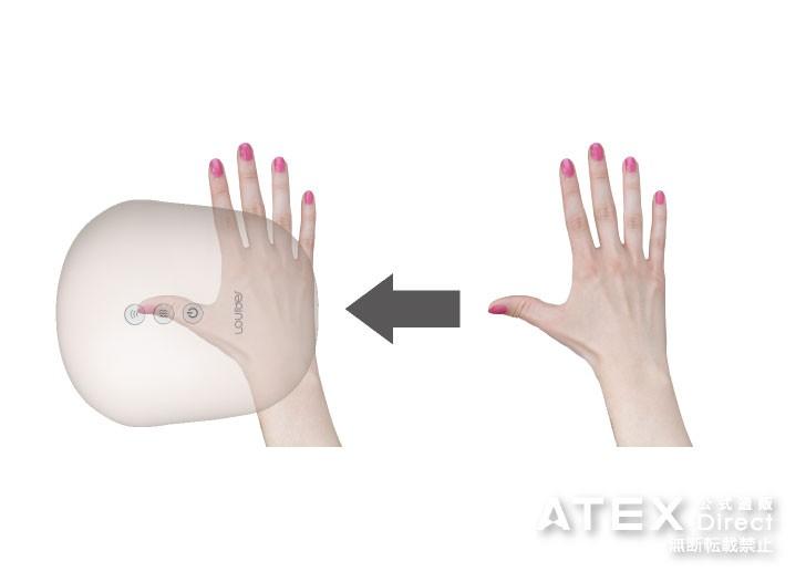 指を押しもむ「指先コース」と手を包みもむ「全体コース」の2つのプログラムコースから選べます。