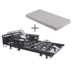 くつろぐベッド 昇降式 フラットタイプ+くつろぐマットレス キルトタイプセット AX-BE936FDBR-BM461