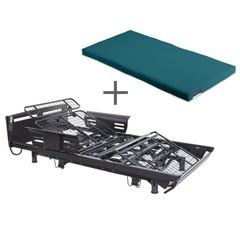 くつろぐベッド 昇降式 フラットタイプ+くつろぐマットレス 防水タイプセット AX-BE936FDBR-BM471F