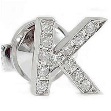 ダイヤモンド,イニシャル,ブローチ