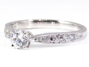 PT900指輪ダイヤモンド0.44ct