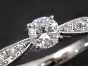 SIクラス大粒ダイヤモンドリング