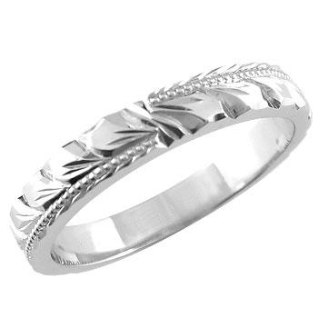 【送料無料】ハワイアンジュエリー:ハワイアンリング:指輪:ホワイトゴールドk18:k18wg:マイレ:小指に記念にお守りとして:ハワイ【工房直販】