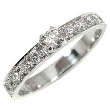 【送料無料】指輪:エンゲージリング:ダイヤモンド:リング:エタニティリング:ダイヤモンド0.30ct 小指用にも【工房直販】
