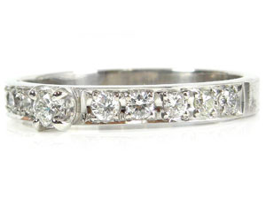 【送料無料】ダイヤモンドリング プラチナ900指輪 小指用にも【工房直販】