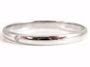 【送料無料】ペアリングホワイトゴールドk10ピンクゴールドk10ダイヤモンド指輪