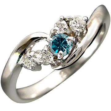 指輪 プラチナリング エンゲージリング ダイヤモンド ブルーダイヤモンド リング ピンキーリング ダイヤ 婚約指輪 ダイヤモンドリング