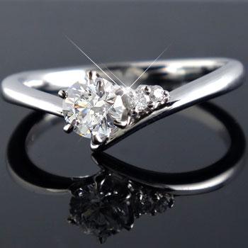 鑑定書付き SIクラス プラチナ ダイヤモンド 婚約指輪 エンゲージリング リング 一粒 大粒 ダイヤ ストレート