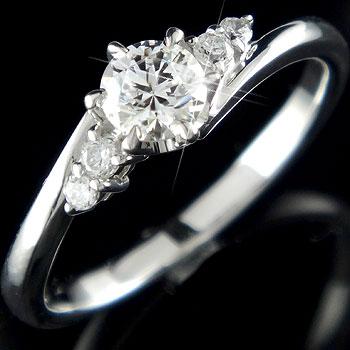 鑑定書付き VS1クラス プラチナ900 ダイヤモンド 婚約指輪 エンゲージリング リング 一粒 大粒 ダイヤ ストレート
