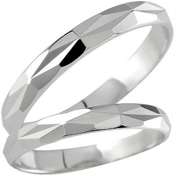結婚指輪 プラチナ ペアリング 人気 マリッジリング ダイヤモンドカット ダイヤ