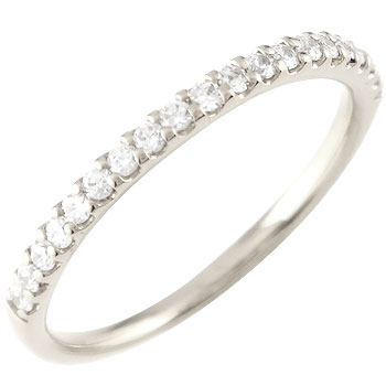 婚約指輪 プラチナ エンゲージリング ダイヤモンド ハーフエタニティ 指輪