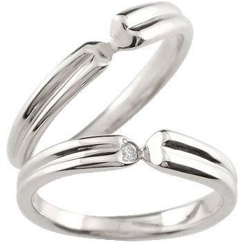 【送料無料・結婚指輪】ペアリング 結婚指輪 マリッジリング ダイヤモンド 一粒ダイヤモンド ハート ホワイトゴールド【工房直販】