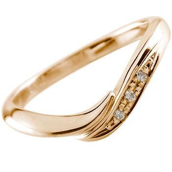 ダイヤモンド リング エンゲージリング 婚約指輪 ピンクゴールドk18