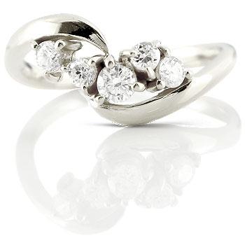 ダイヤモンド プラチナ 婚約指輪 エンゲージリング