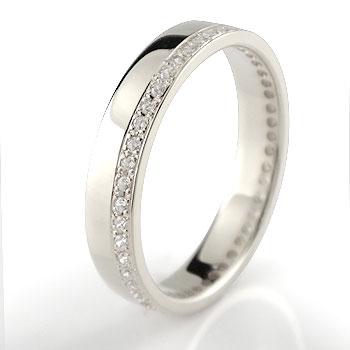 フルエタニティリング ハードプラチナ950 ダイヤモンド 指輪 幅広