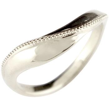 シルバー リング 指輪 ピンキーリング ミル打ち