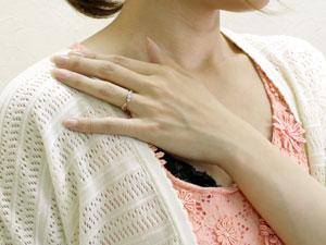 プラチナ ダイヤモンド リング ピンキーリング 指輪 ピンクゴールドk18