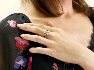 猫 プラチナ リング アメジスト 指輪 ピンキーリング