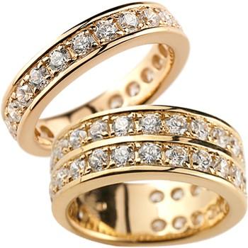 ペアリング 結婚指輪 マリッジリング ダイヤモンド ハーフエタニティ ピンクゴールドk18