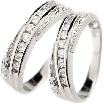 ペアリング 結婚指輪 マリッジリング ダイヤモンド ホワイトゴールドk18