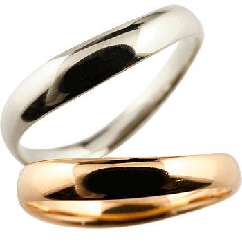 V字 ペアリング 結婚指輪 マリッジリング ホワイトゴールドk18 ピンクゴールドk18 地金リング ブイ字 結婚式 シンプル 宝石なし