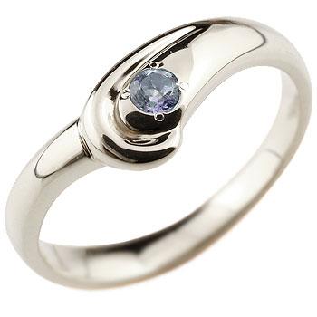 アイオライト リング 指輪 スパイラルリング ピンキーリング シルバー