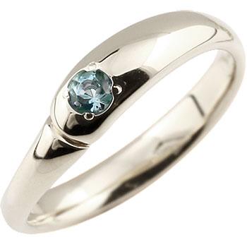 ブルートパーズ リング 指輪 ピンキーリング シルバーリング 11月誕生石